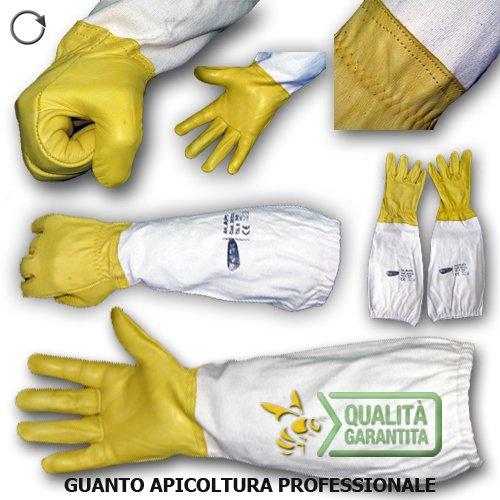 GUANTO APICOLTURA Professionale in pelle con manichetta in cotone (taglia 10)
