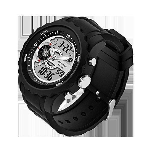 Digital Reloj Deportivo,Militar Al Aire Libre Reloj para resistente al agua deportes al aire libre relojes con LED Luz de Fondo Resistente Al Agua,Zona horaria múltiple,Resistente a los golpes