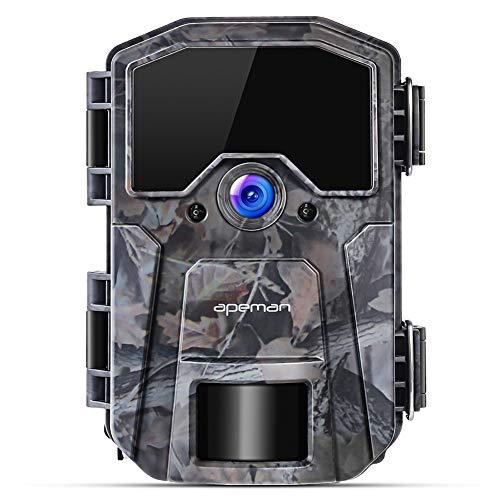 APEMAN Fototrappola 16MP 1080P, Videocamera con rilevazione Notturna Senza Bagliore con IR LEDs 940nm, Intervalli di Tempo, Timer, Design Impermeabile IP66