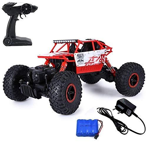 Ajudiya's 1:18 4WD Rally Car Rock Crawler Off Road Race Monster Truck (Red`)