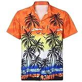 Styledresser Uomo T Shirt Hawaiian Origina Camicia Hawaiana Signori Maniche CorteTasca Frontale Hawaii Stampa Fiori Casual Button Down Tee Shirts S   2XL