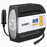 Suaoki RCP - Compresor de aire digital, bomba inflador portátil con luz LED (12V, 100 PSI, 2...