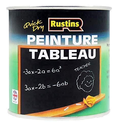 Rustins Blackboard - Vernice per lavagna (125/250/500 ml, 1/2,5 litri), colore: Nero 2.5 Litre