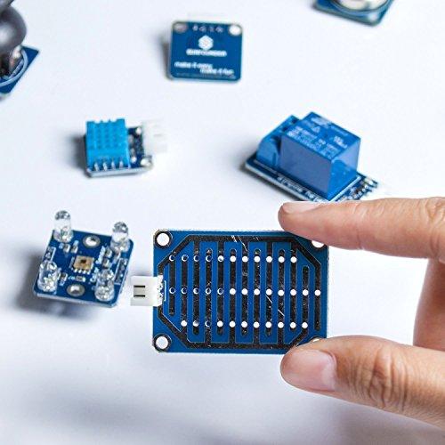 51H7LT8TPXL - SunFounder 37 Modules Sensor Kit V2.0 for Raspberry Pi 3, 2 and RPi Model B+, 40-Pin GPIO Extension Board Jump wires