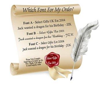 Select Gifts Boy Rey Egipto Gemelos de oro con grabados caso personalizado 5