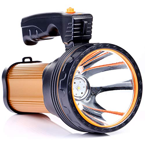 ROMER LED Rechargeable Handheld Searchlight High-power Super Bright 9000 MA 6000 LUMENS CREE...