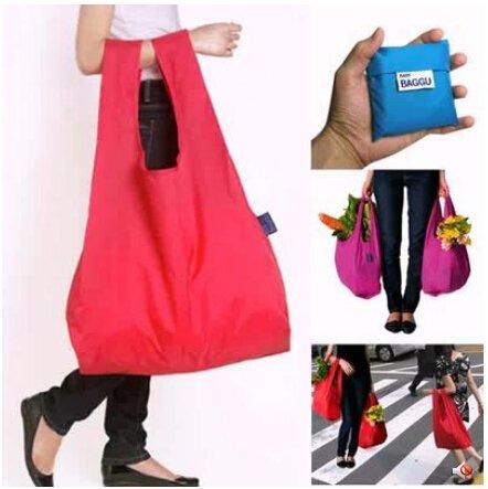Generic Rose : Folding Bag Japanese BAGGU Reusable ECO Foldable Square Pocket Storage Bags Candy Colours (AZH-UK-43004)