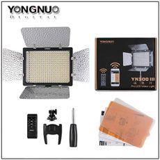 Yongnuo YN300 III - Lámpara LED para iluminación fotográfica (3200-5500° K, 150 led, 2280 lm), color negro