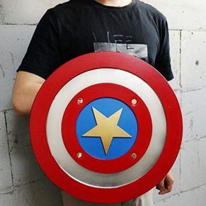HEROMEN Capitán América 1: 1 Escudo,Halloween Cosplay Equipo De Superhéroe Armas Accesorios Periféricos