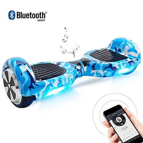 BEBK Hoverboard 6.5 Pollici Hover Board - Smart Self Balance Scooter Electrico con Bluetooth/LED,...