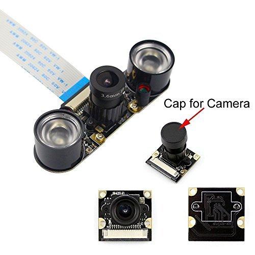 Longruner Camera Module for Raspberry Pi 3 Model B B+ A+ 2 1 5MP 1080p OV5647 Sensor HD Video Webcam Night Vision Camera