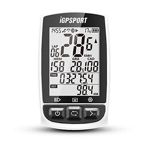 iGPSPORT Ciclocomputer GPS con ANT+ Funzione iGS50E Ciclocomputer bici senza fili Wireless-Bianco
