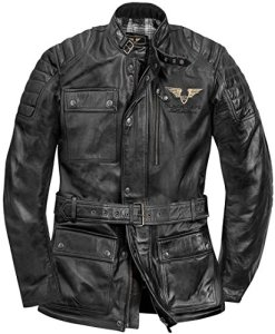 Black-Cafe London Kerman Motorrad Lederjacke 4