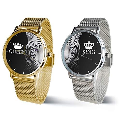 LMTS Coppia Orologi Maglia Milano King e Queen Modello 8 (Argento + Oro)