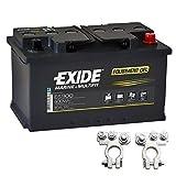 Exide Equipment Gel Batterie ES 900 12V 80Ah inkl. Polklemmen Boot Solar Wohnmobil