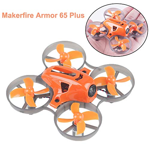 MakerStack Armor 65 Plus Micro FPV Racing Drone 65mm Whoop Quadcopter 7x16mm Motori F3 FC con XM...