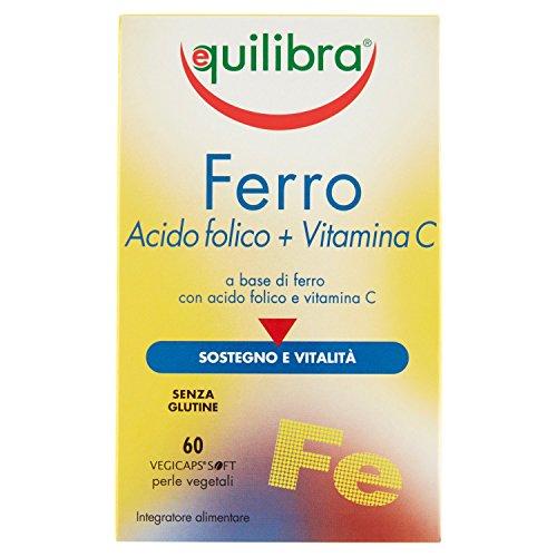 Equilibra - Ferro con Vitamin C e Acido Folico, 60 Perle Vegicaps