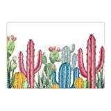 Alfombra Cactus Para Piso Cartoon Colorful