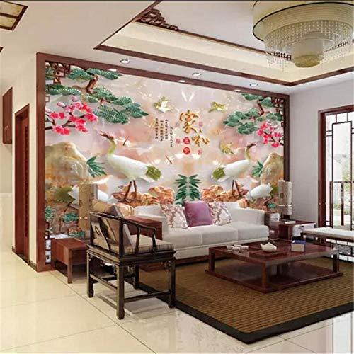 rylryl Carta da parati personalizzata con foto 3d murale Casa e Fook Bamboo Yannian Jade Carving TV...
