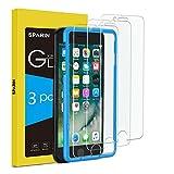 SPARIN [3-Pezzi] Compatibile con iPhone 8 / 7 / 6s / 6 Vetro Temperato [Strumento per Una Facile Installazione], [Alta Trasparente] [Nessuna Bolla] [Anti-Impronte]