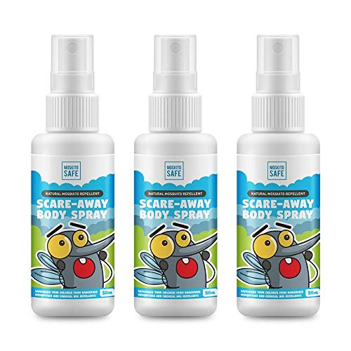 Moskito Safe Natural Mosquito Repellent Body Spray (Pack of 3, Small) (Pack of 3)