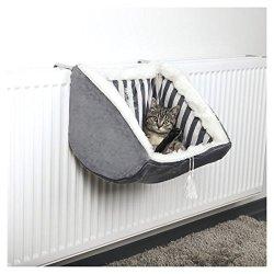 katzeninfo24.de Trixie Cat Prince Liegemulde für Heizkörper, 38 × 30 × 38 cm, grau