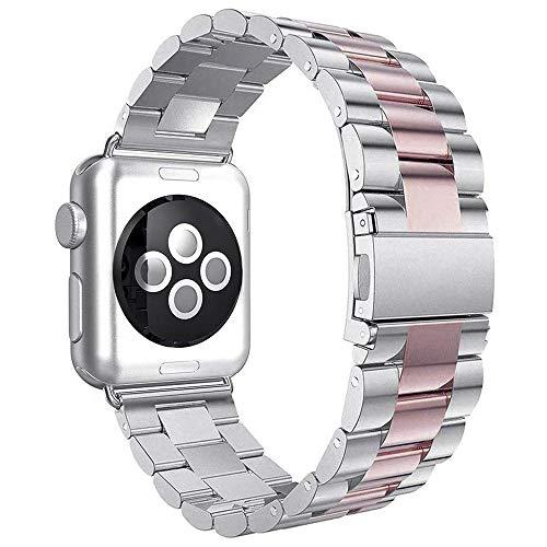 Aottom Compatibile per Cinturino Apple Watch 38mm Cinturini iWatch 40mm Cinturino di Ricambio in Acciaio Inossidabile per Donna Uomo Cinturino in Metallo Fibbia Cinturino per iWatch 4/3/2/1 38mm 40mm