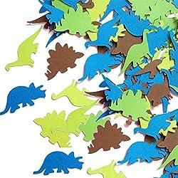 poetryer 100Pcs Confeti De Papel, para Decoraciones De Bodas, Fiestas, Aniversarios Navideños, Decoraciones para Fiestas, Regalos De Jardinería, Dinosaurio, Animal, Sirena
