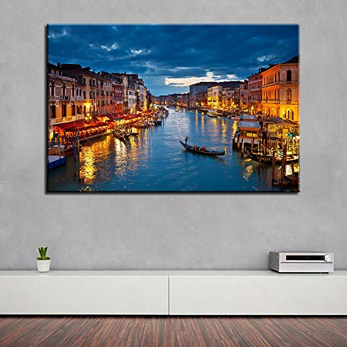 RTCKF Wall Art Canvas Painting HD Printing City Architecture Home Decor Landscape Restaurant Hotel...