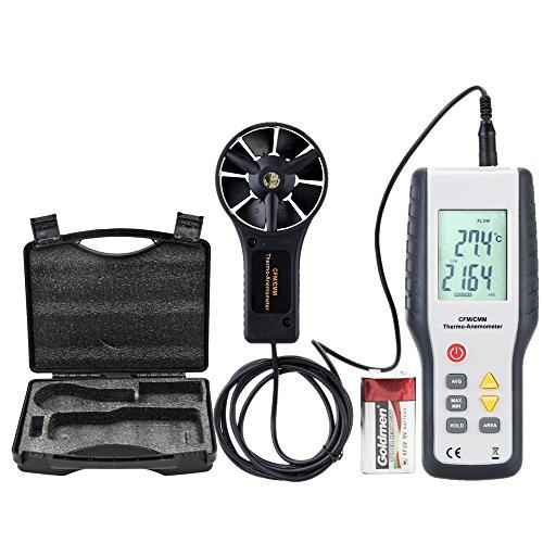 Eray Anemometro Professionale Termometro Digitale Misuratore di Velocità del Vento e la Temperatura...