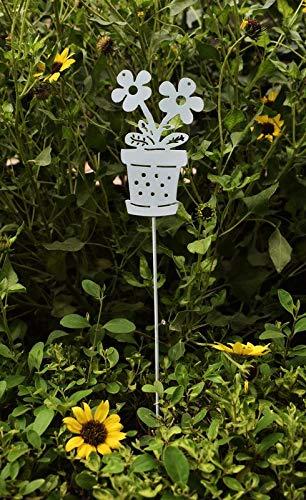 Flower Pot Garden Stakes - Set of 2