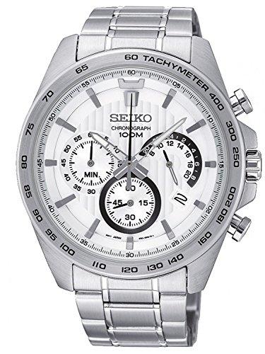 Seiko Herren Chronograph Quarz Uhr mit Edelstahl Armband SSB297P1
