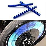 sunnymi Fahrradzubehör 24pcs Reflektierende Warnstreifen Schlauch Radfahren Fahrrad Rad Speichen Reflektor Clips