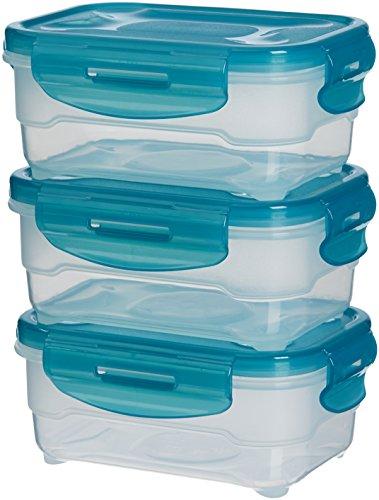 Set di contenitori per alimenti, 130 x 80 x 170, 3 pezzi da 0,60 L