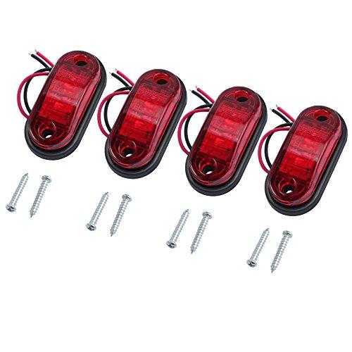 Justech 4 x Luci di Posizione Luci Laterali Luci di Posizione Indicatore LED Fanali Posizione...