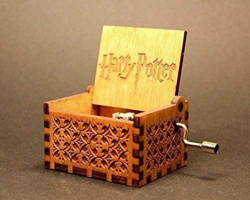 UspotUshop Wooden Hedwig Theme Harry Potter Hand Cranked Collectible Engraved Music Box