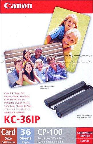 #Canon KC-36 IP 5,4 x 9,0 cm Scheckkartengroßes Papier für Selphy Drucker#
