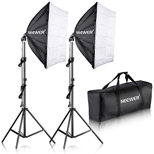 Neewer 700W 60x60cm Softbox con E27 Presa Elettrica Kit di Illuminazione per Ritratto da Studio...