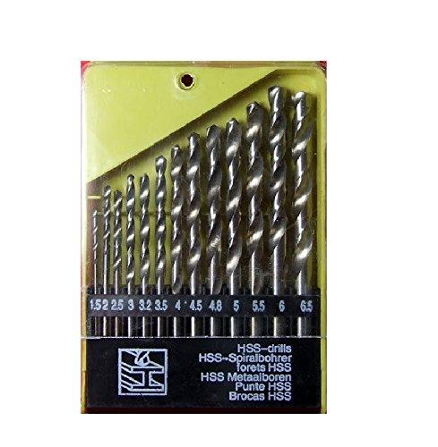 Generic Plastic drill bit set Drill Bits Set for Wood (13 Pieces, Malleable Iron, Aluminium, Plastic etc.)