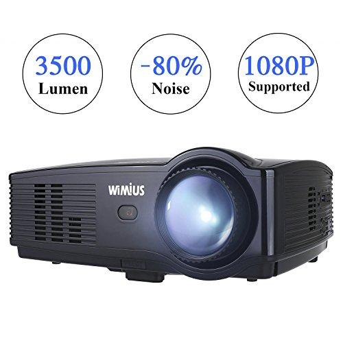Proiettore,WiMiUS T4 Upgraded 3500 lumen Videoproiettore Full HD LED Supporto HDMI 1080p Full HD...