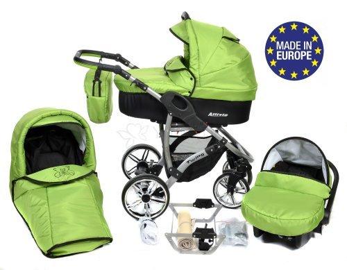 Allivio - 3-in-1 Travel System con carrozzina, seggiolino auto, passeggino sportivo e accessori CON...