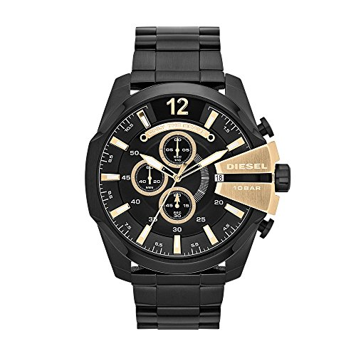 Diesel Herren-Reloj analógico de Pulsera de Cuarzo Chapado en Acero Inoxidable DZ4338