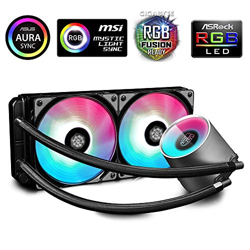 DeepCool Castle 240 RGB Dissipatore Liquido CPU Intel AMD AIO Silenzioso ad Alte Prestazioni con...