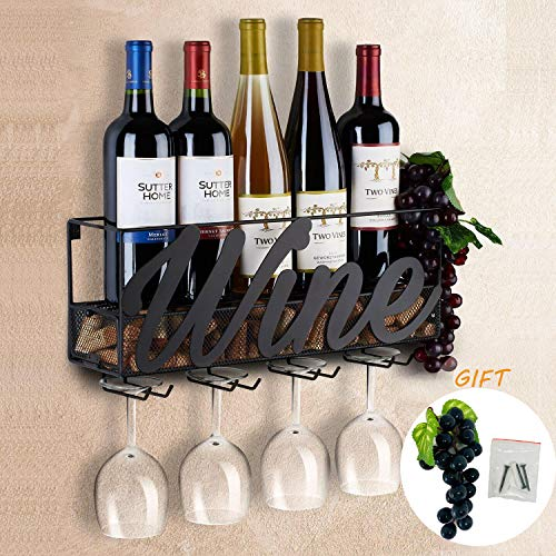 Tinyuet Scatola per Vino da Parete | Portabottiglie e Vetro | Decorazioni per la casa e la Cucina |...