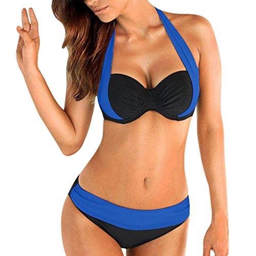 3a1e304453 HOMEBABY Women Push-Up Padded Swimsuit