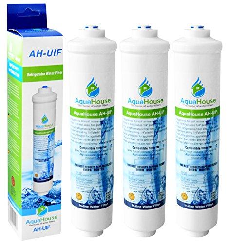 3x AquaHouse AH-UIF Compatibile universale Frigorifero Filtro acqua per Samsung LG Daewoo...
