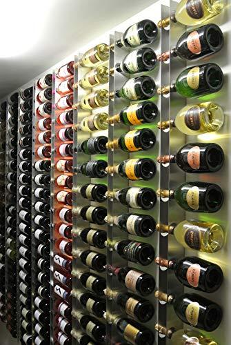 Vin'store Design RCD18 - Porta Bottiglia di Champagne, Design a Parete, in Acciaio Inox, Made in...