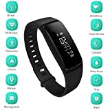 Dreamerd Bluetooth Schrittzähler Armband Fitness Tracker, Sport Wristband Smart Band mit Herzfrequenz Monitor / Step Tracker / Kalorienzähler / Schlaf Monitor / Sport Entfernung / Blutdruckmessgerät