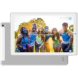 Tablet 10.1 Pulgadas 4G Dual SIM /WiFi Tableta 3GB de RAM 32GB de ROM Android 8.0 Quad-Core Batería 8000mAh Bluetooth/GPS/OTG Tablets-Plata
