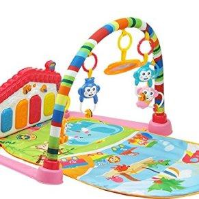 SURREAL (SM) 3 en 1 Baby Piano Play Gym PlayMat Música y luces - Rosa
